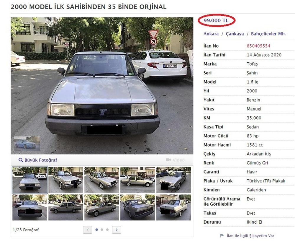 20 yaşını geçmiş araçlara öyle bir fiyat istediler ki görenler hayretler içinde kaldı