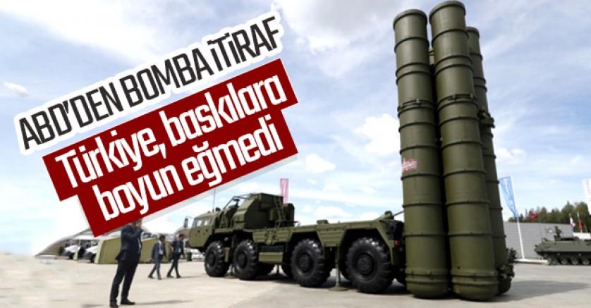 ABD'den bomba itiraf: Türkiye baskıya boyun eğmedi!
