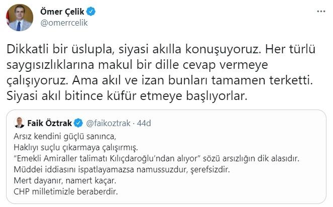 """AK Parti Sözcüsü Çelik'ten Öztrak'a yanıt: """"Akıl ve izan bunları tamamen terk etti"""""""