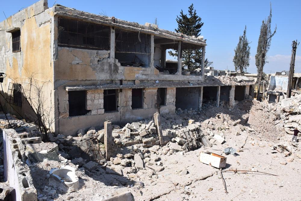 Ateşkes sonrası İdlib'teki enkaz görüntülendi