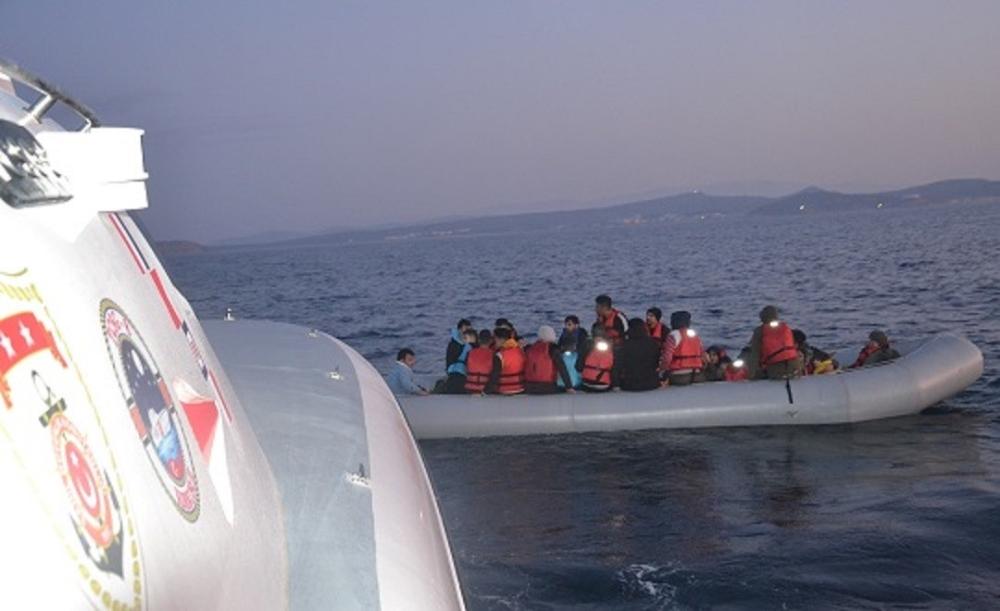 Ayvalıkta 39 Düzensiz Göçmen Yakalandı