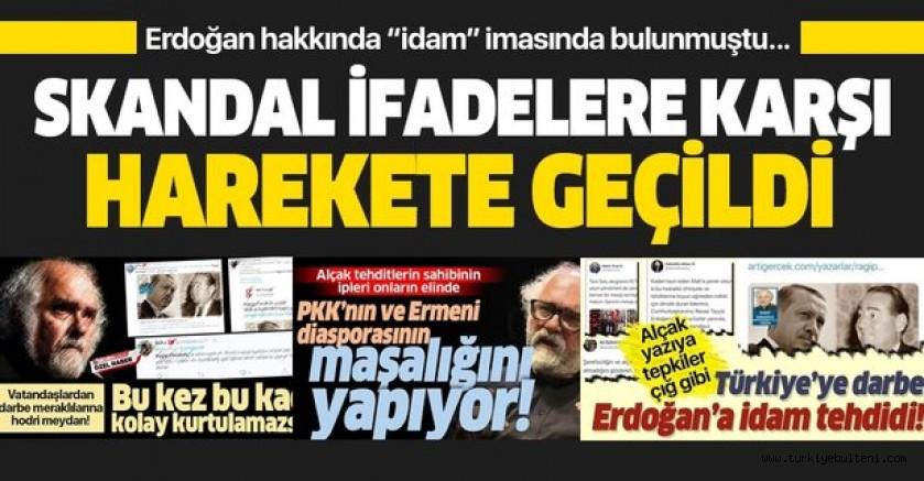 Cumhurbaşkanı Erdoğan'a idam tehdidi içeren yazıya suç duyurusu
