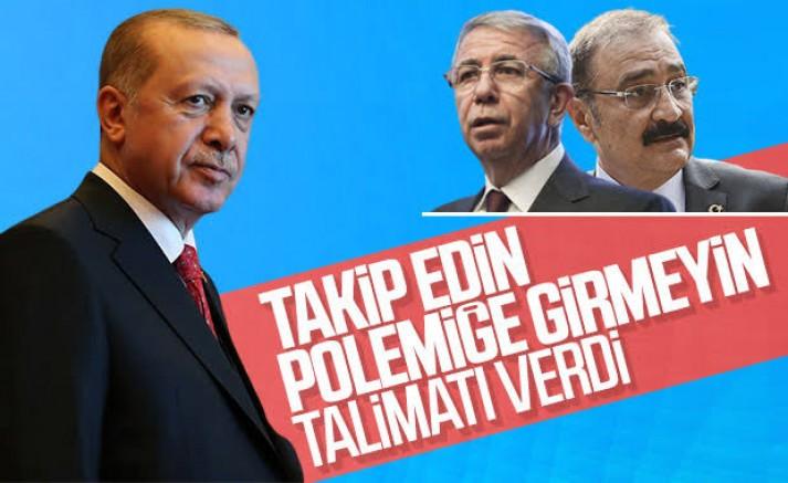 Cumhurbaşkanı Erdoğan'dan 'Mansur Yavaş' talimatı
