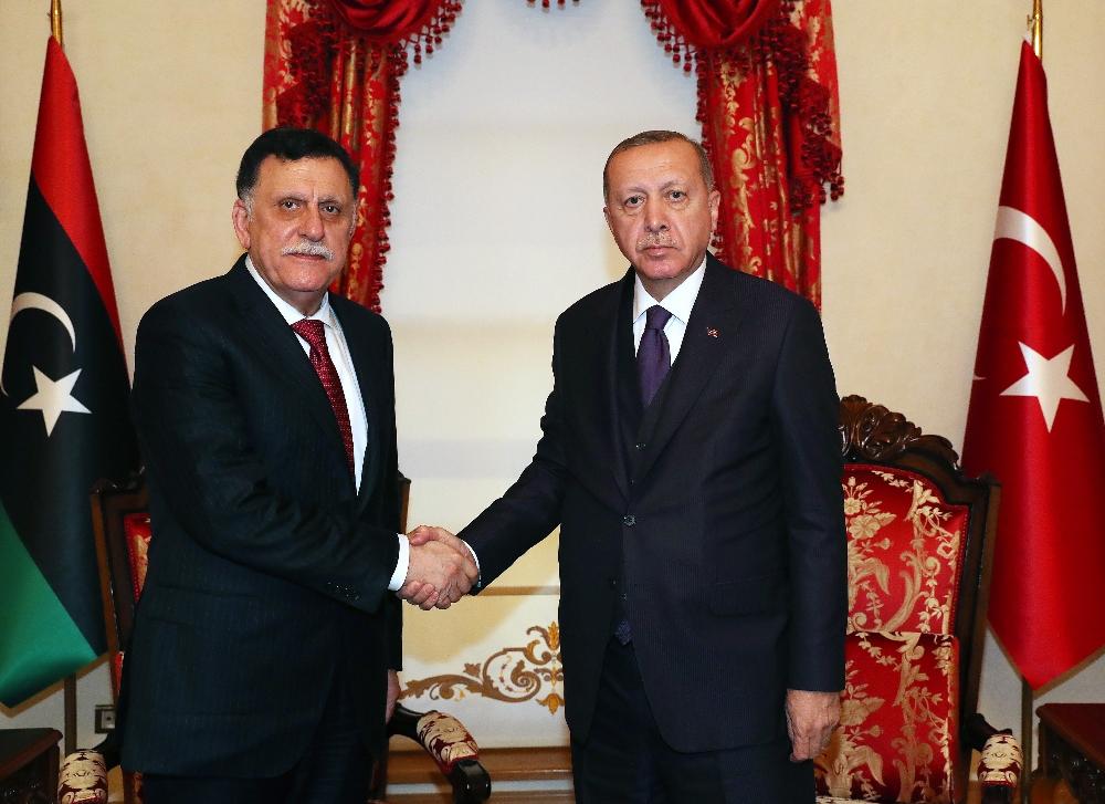 Cumhurbaşkanı Erdoğan, Fayez Al Sarrajı Kabul Etti