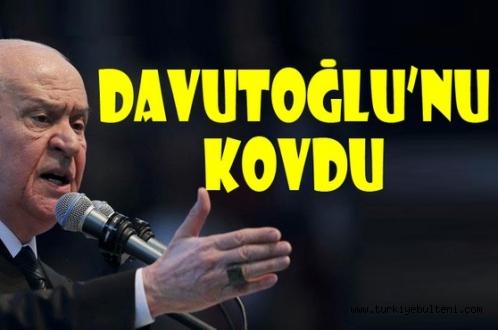 Devlet Bahçeli Davutoğlu'nu kovmaktan beter etti!