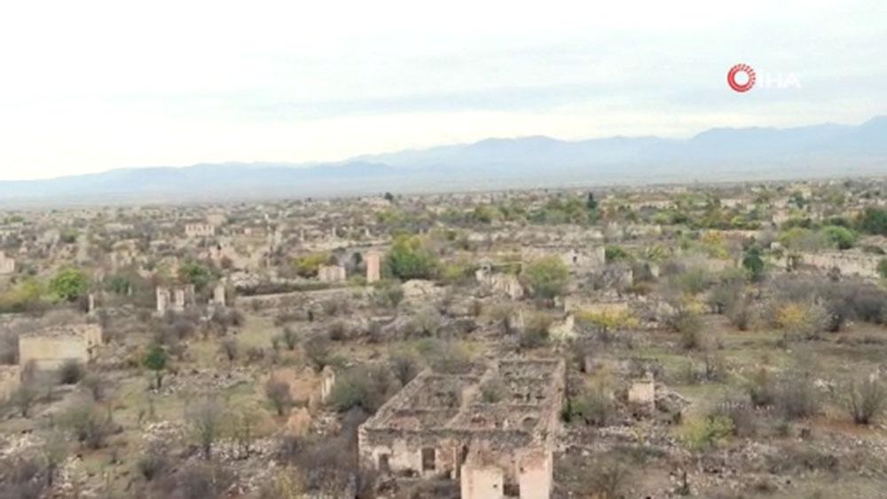 Ermeniler, Ağdam şehrinden yakıp yıkarak çekildi