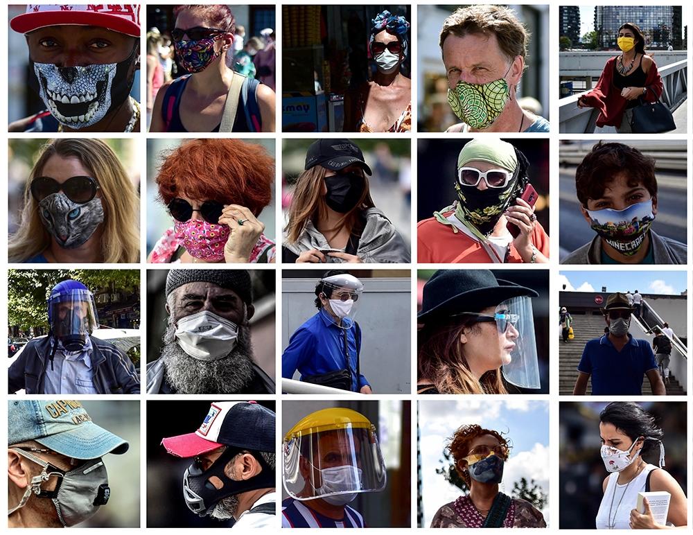 İstanbul sokaklarında ilginç maske manzaraları