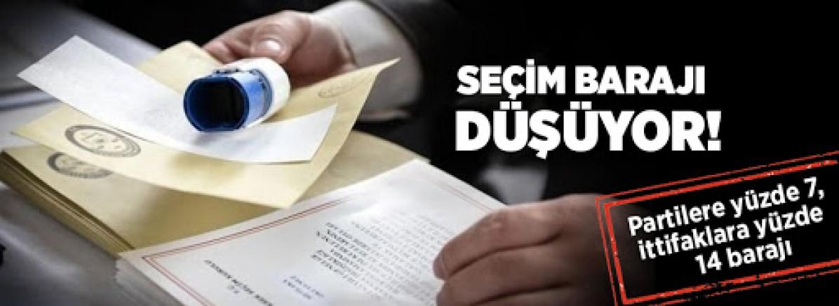 İşte AK Parti'nin yeni seçim kanunu!.. Baraj düşüyor ittifaklara baraj geliyor