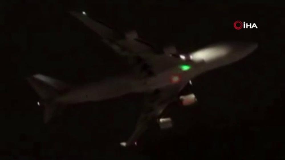 Kargo uçağını lazer ile böyle taciz ettiler