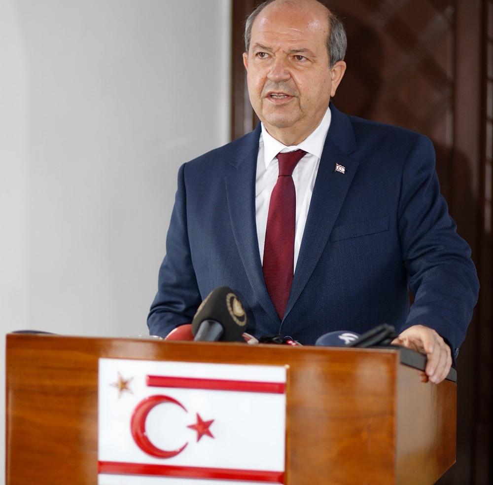 """KKTC Cumhurbaşkanı Tatar'dan """"yeni bir sayfa"""" ve """"yeni bir süreç"""" vurgusu"""