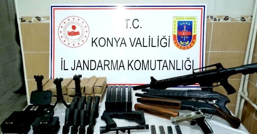 Konyada Jandarmadan Ruhsatsız Silah Satışına Darbe