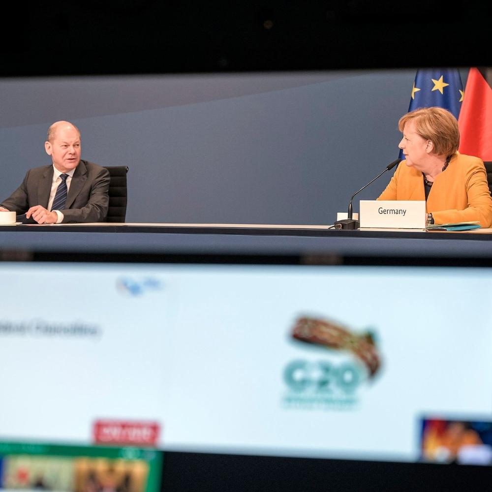 Merkel'den Covid-19'u yenmek için küresel eylem çağrısı