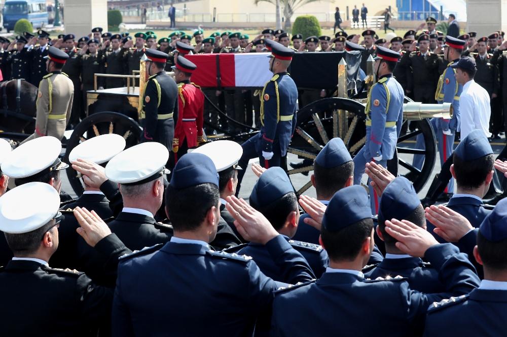 Mısır'da Mübarek için askeri cenaze töreni