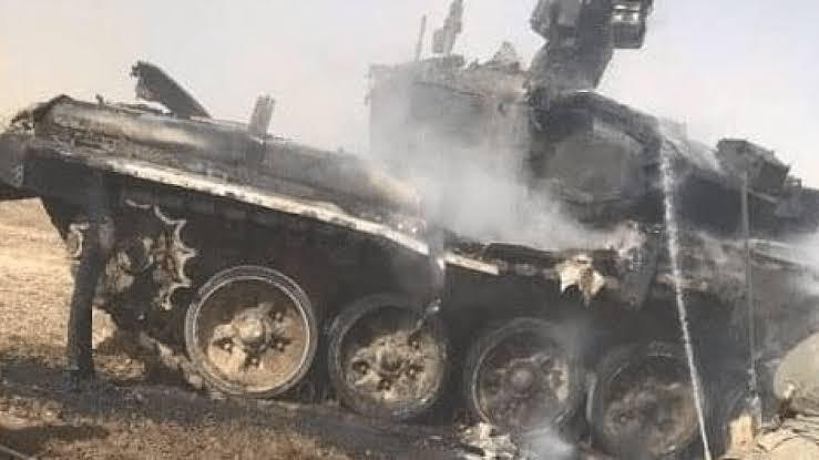 Rusya'da tank yanarak kül oldu