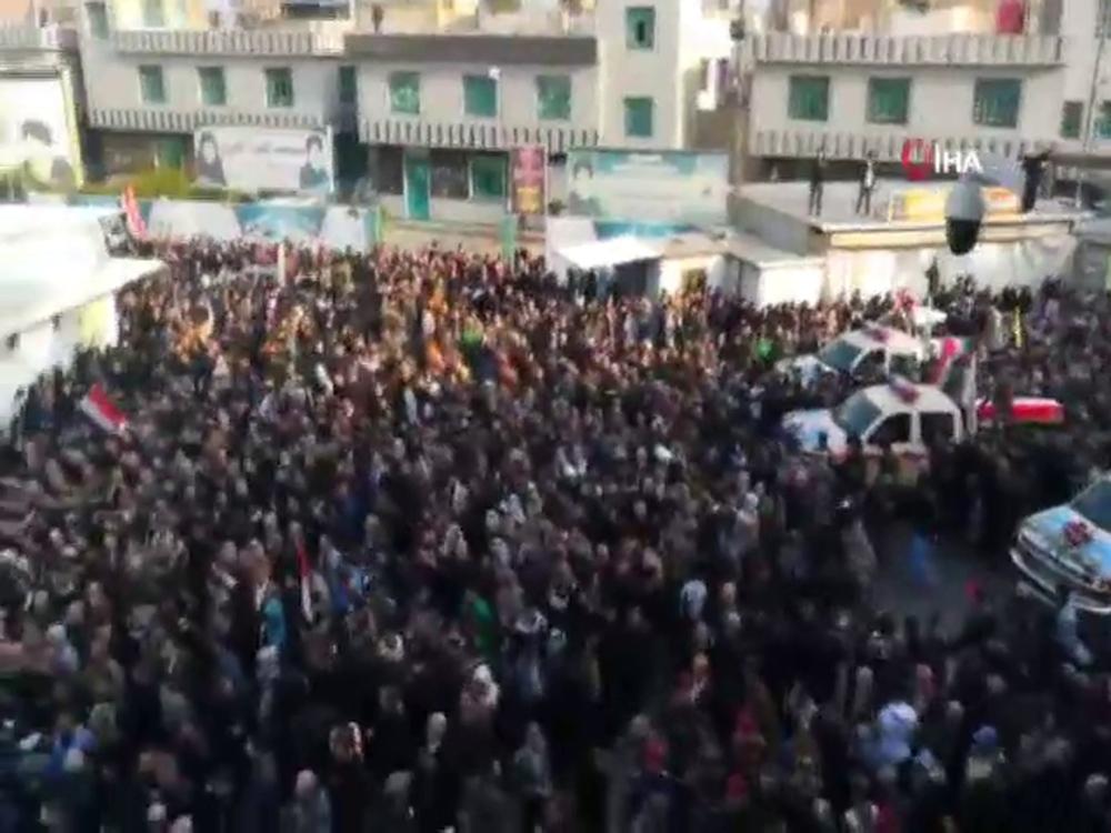 Süleymani Ve El-Mühendisin Cenaze Törenine Binlerce Kişi Katıldı