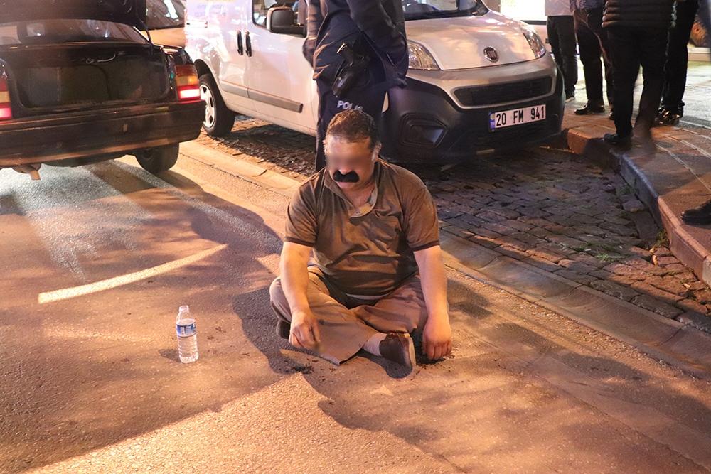 Ters yöne giren alkollü sürücü polise zor anlar yaşattı