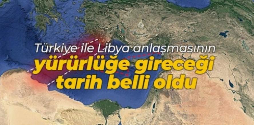 Türkiye-Libya mutabakatı 8 Aralık'ta yürürlüğe girdi