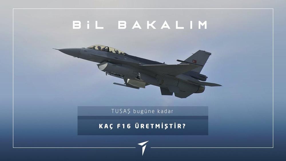 TUSAŞ, bugüne kadar 308 adet F-16 ürettiğini açıkladı
