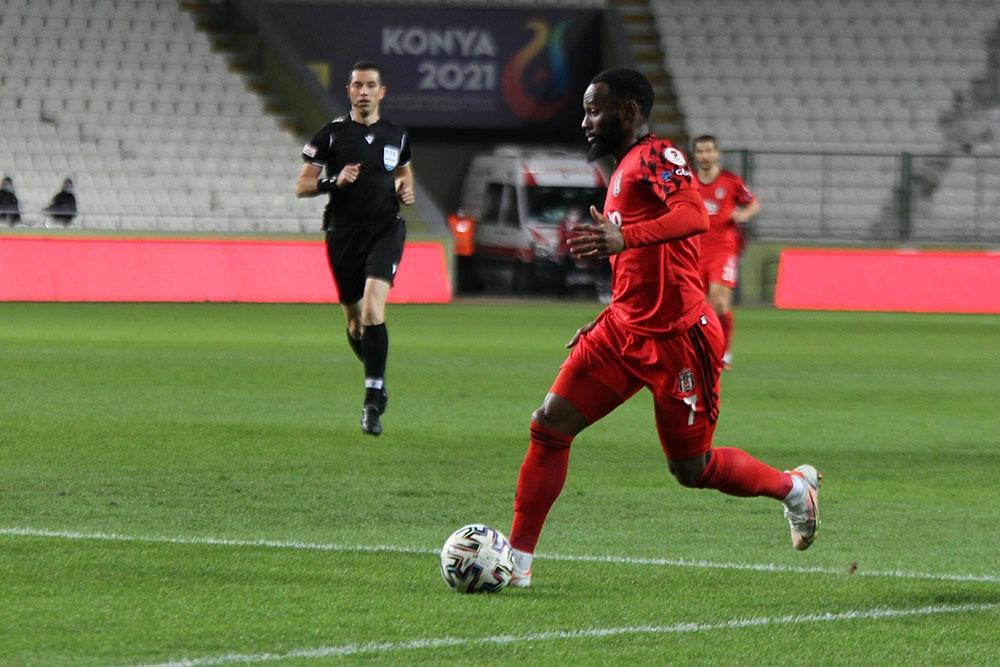 Ziraat Türkiye Kupası: Konyaspor: 1 - Beşiktaş: 1 (İlk yarı)